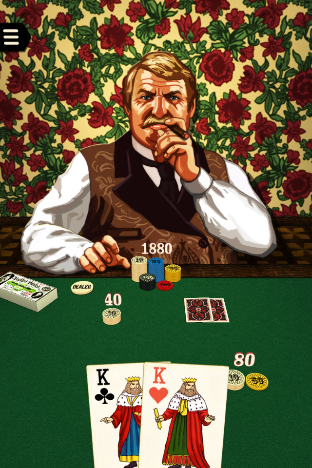 Riverboat Poker - a Heads Up Poker Game for Smart Phones and Tablets